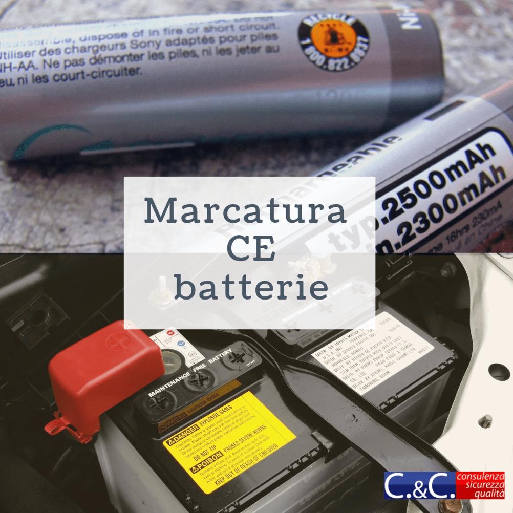 Marcatura CE Batterie e Pile