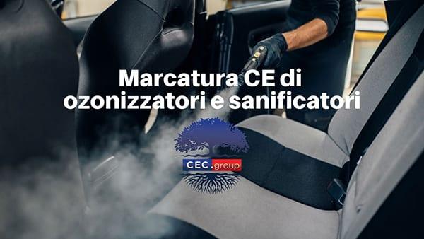 Marcatura CE di ozonizzatori e sanificatori