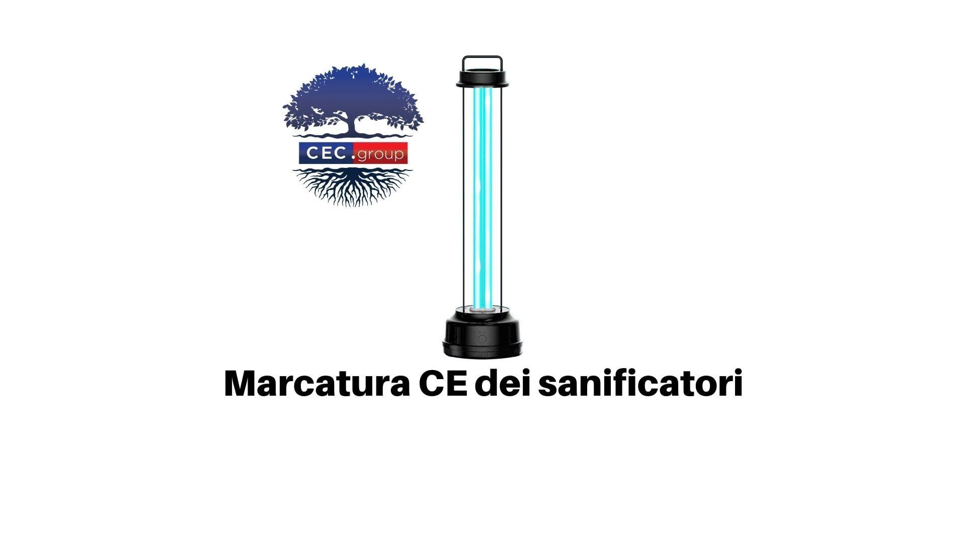 Marcatura CE sanificatori